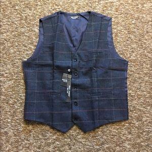 Men's Plaid Tweed Suit Vest